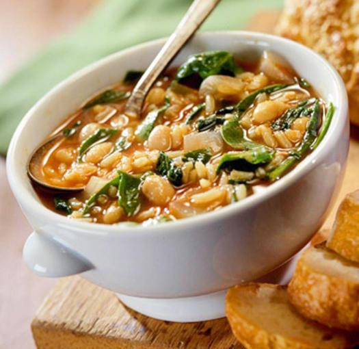 Savory Bean and SpinachSoup