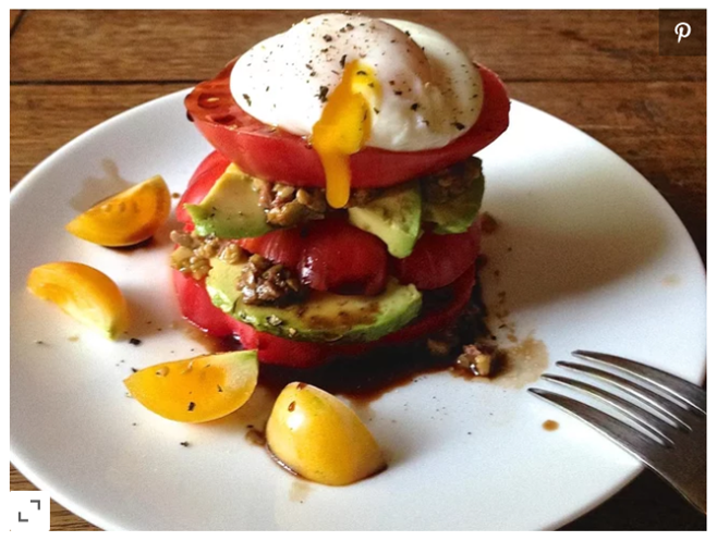 Tomato Avocado Egg Stack Cooking Light